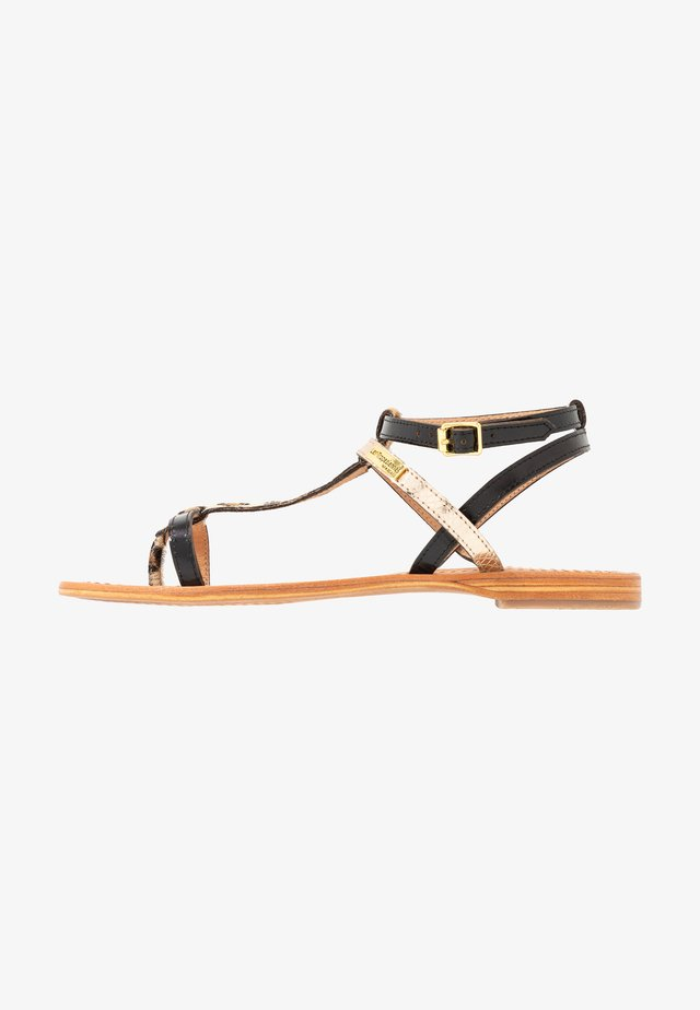 BAIE - T-bar sandals - noir