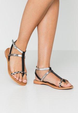 HILATRESS - Sandály s odděleným palcem - black/silver