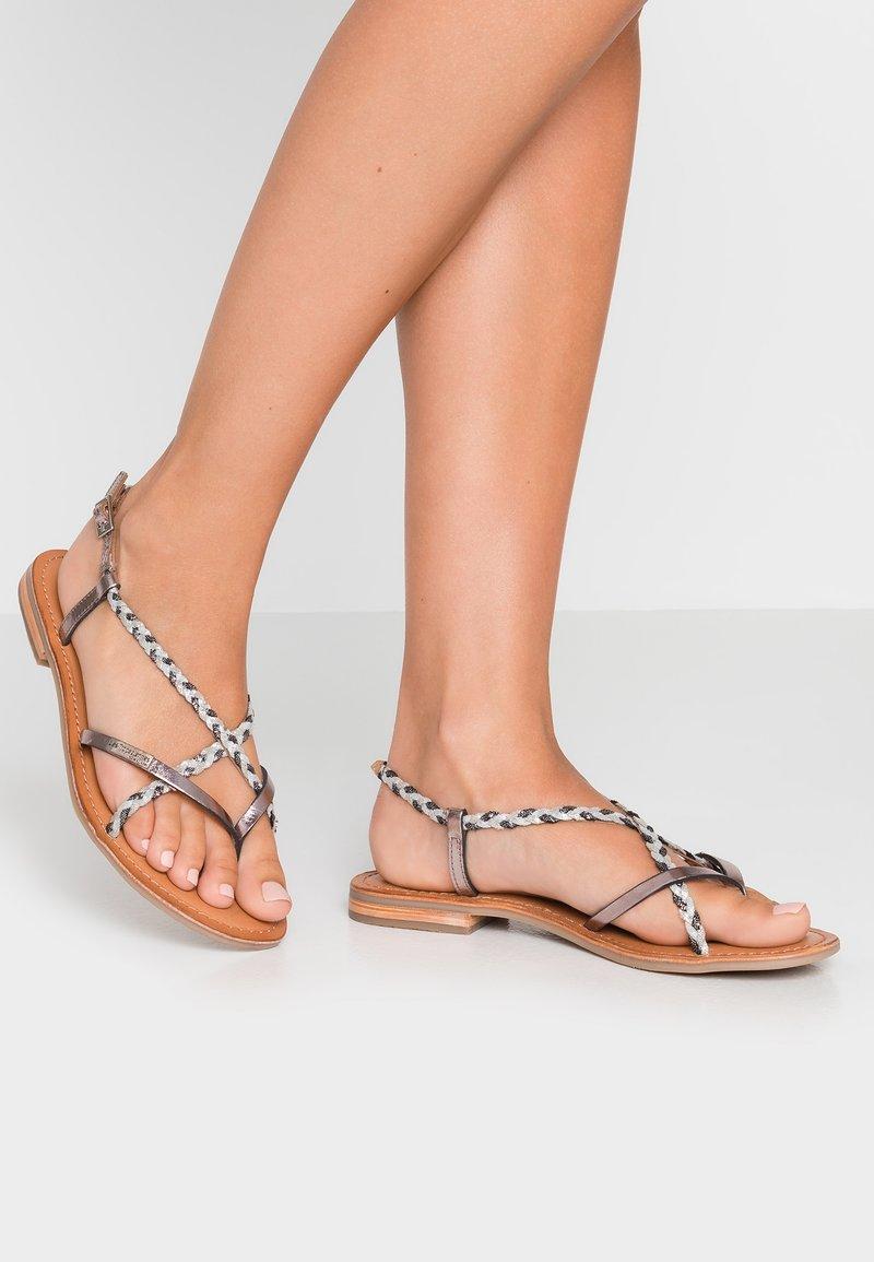 Les Tropéziennes par M Belarbi - MONATRES - T-bar sandals - etain
