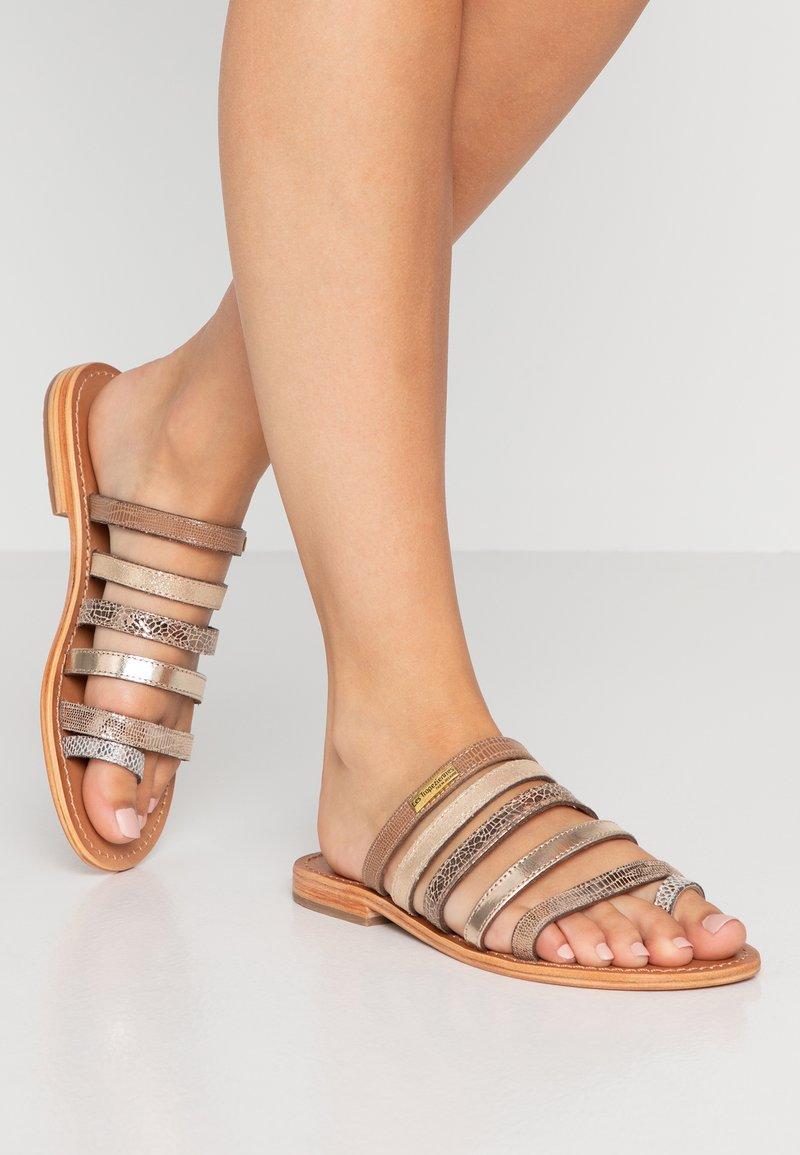 Les Tropéziennes par M Belarbi - BRIQUET - T-bar sandals - gold/multicolor