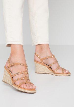 CRISTELA - Wedge sandals - camel
