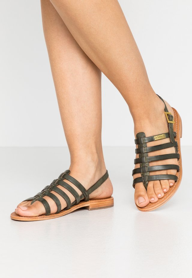 HERIBERI - T-bar sandals - kaki