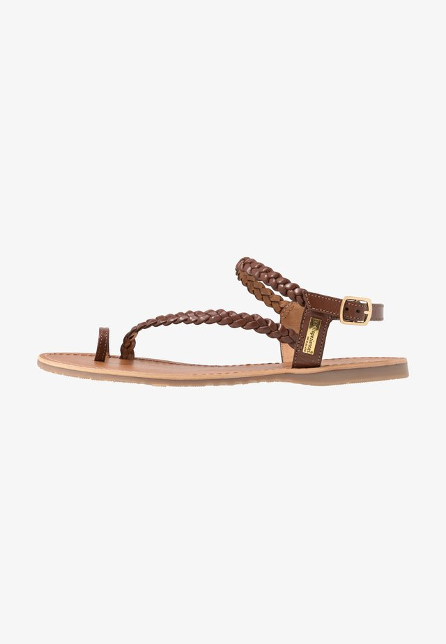 HIDEA - T-bar sandals - tan