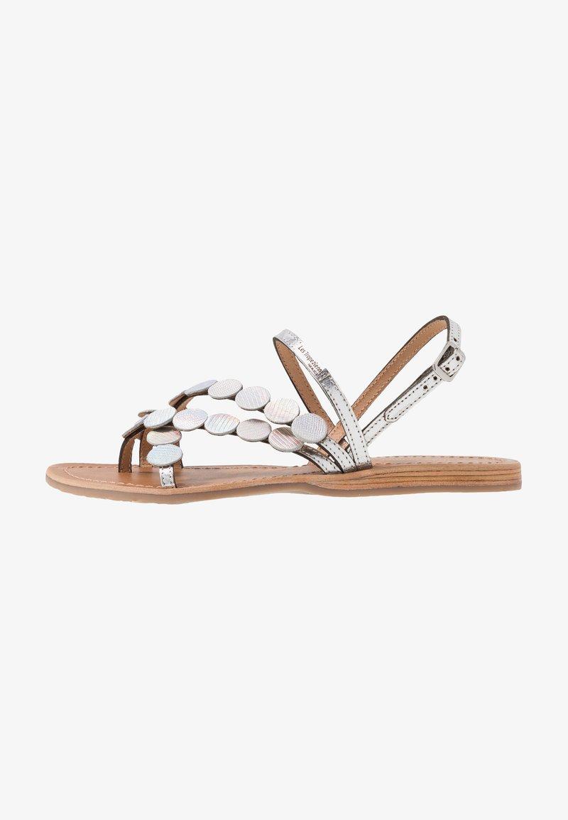 Les Tropéziennes par M Belarbi - HOLO - T-bar sandals - argent
