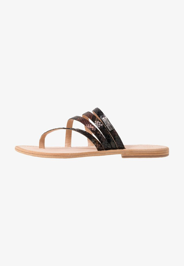 ODYSSEE - T-bar sandals - noir