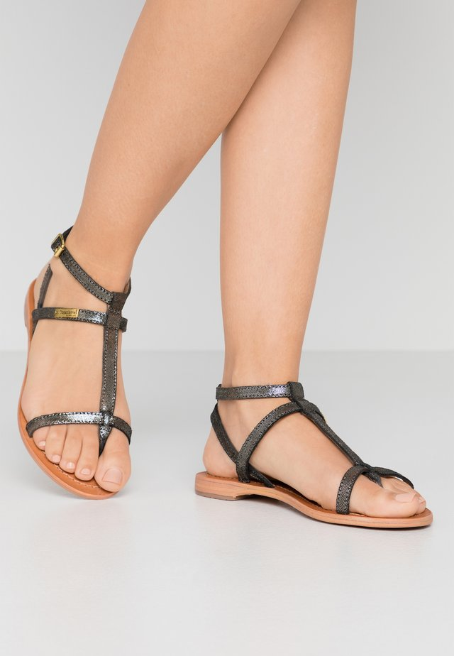 HILAN - T-bar sandals - noir irise