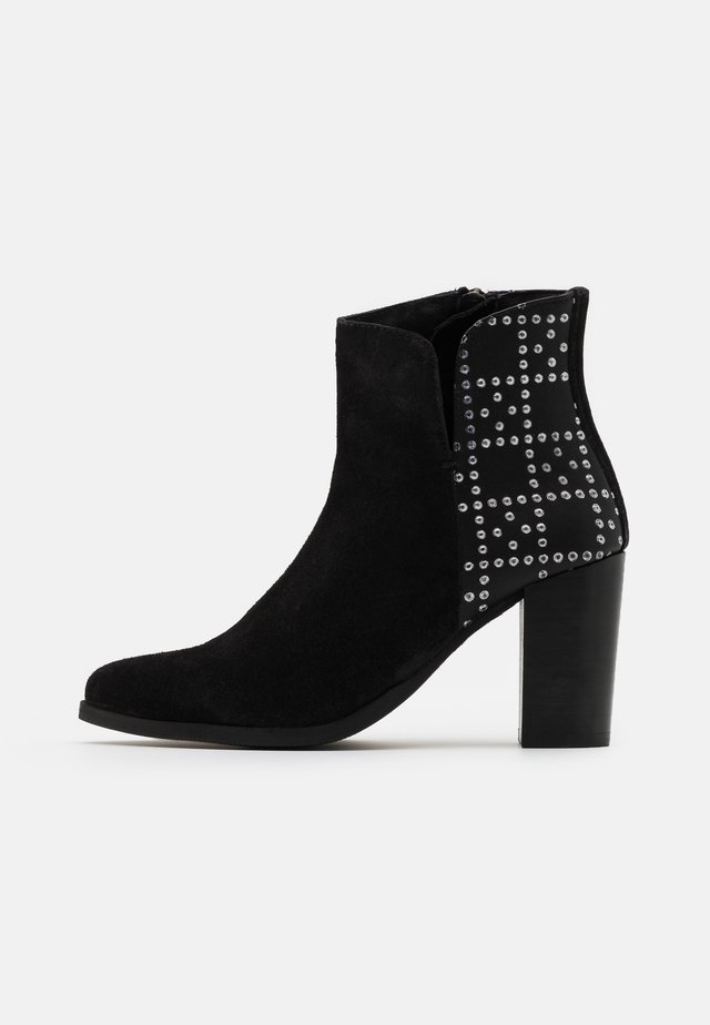 KESHIA - High heeled ankle boots - noir
