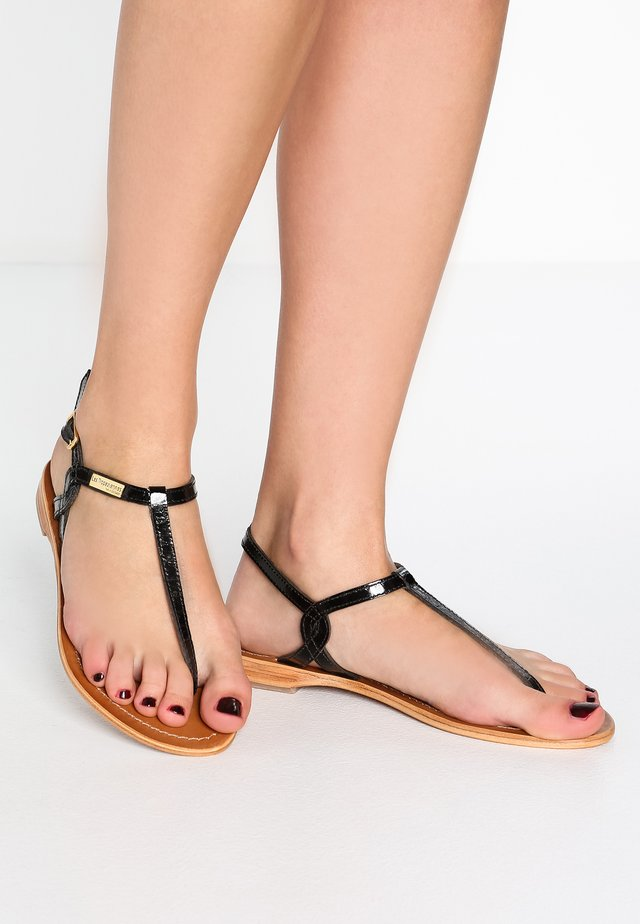 BILLY - T-bar sandals - noir
