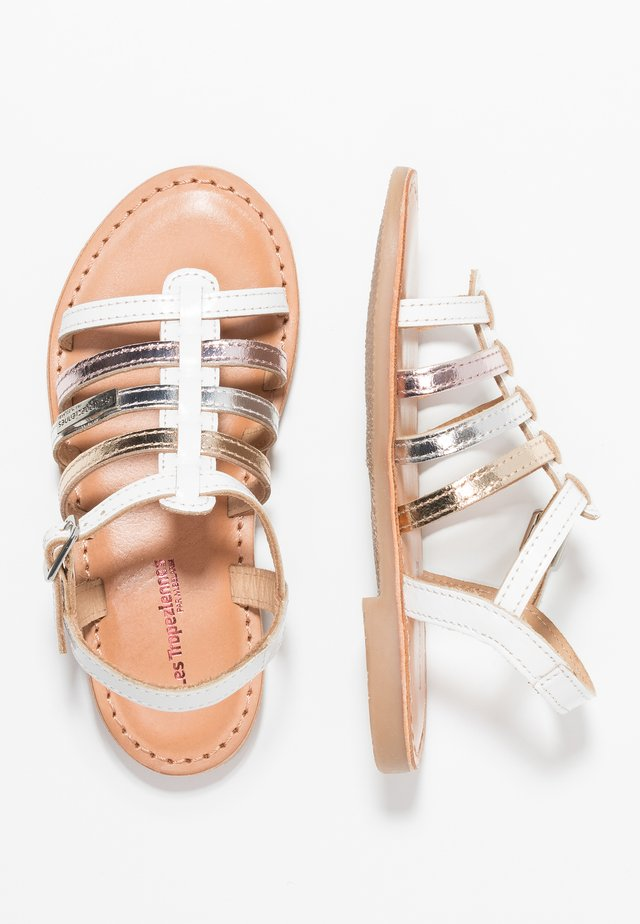 MONGUE - Sandals - blanc/multicolor