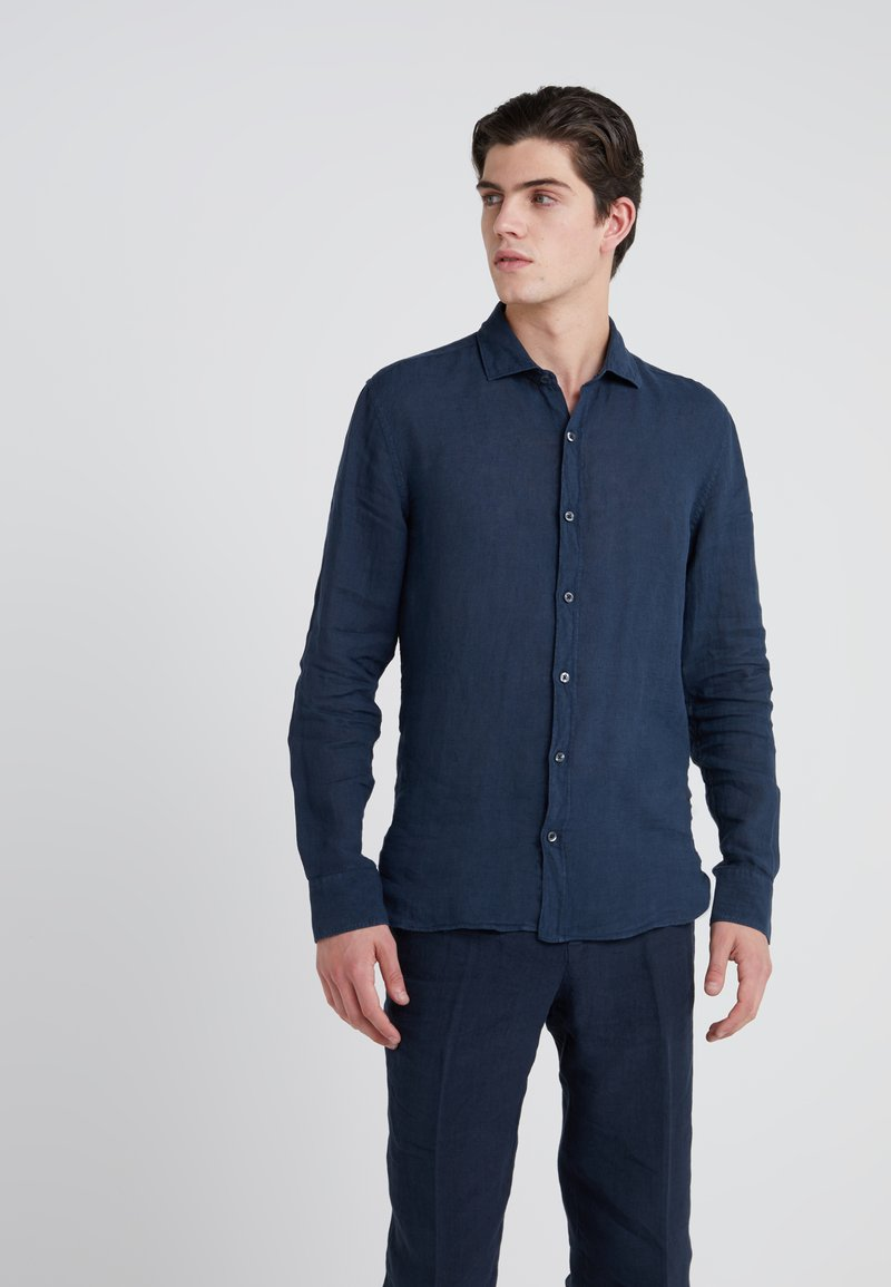 120% Lino - CAMICIA SLIM FIT - Overhemd - graphite
