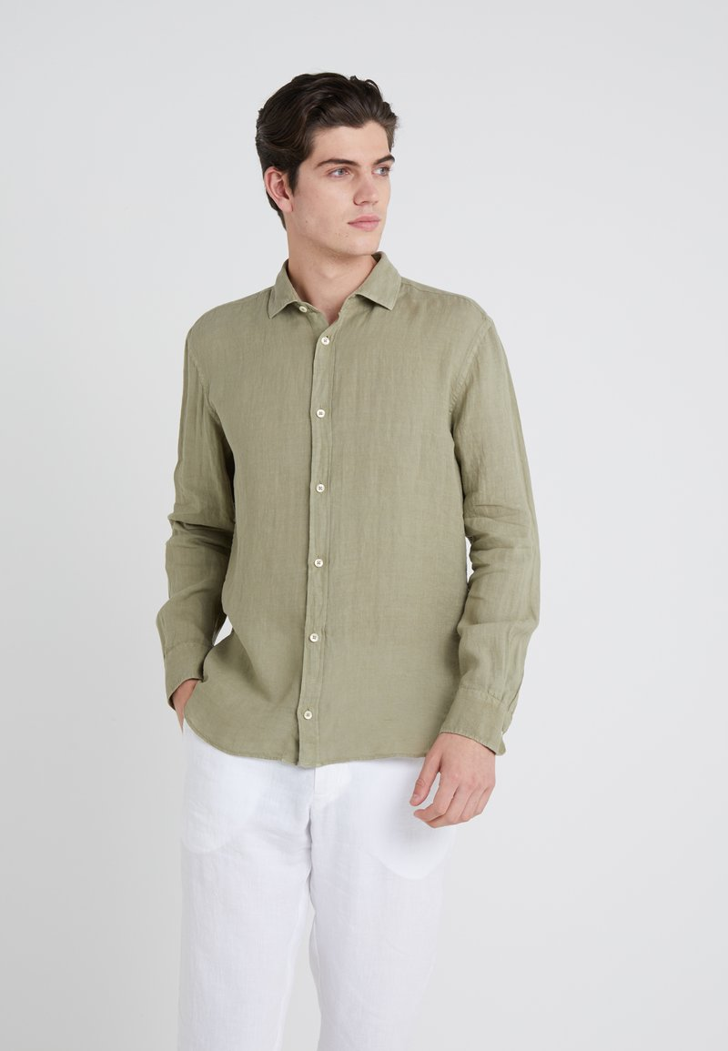 120% Lino - CAMICIA SLIM FIT - Overhemd - military green