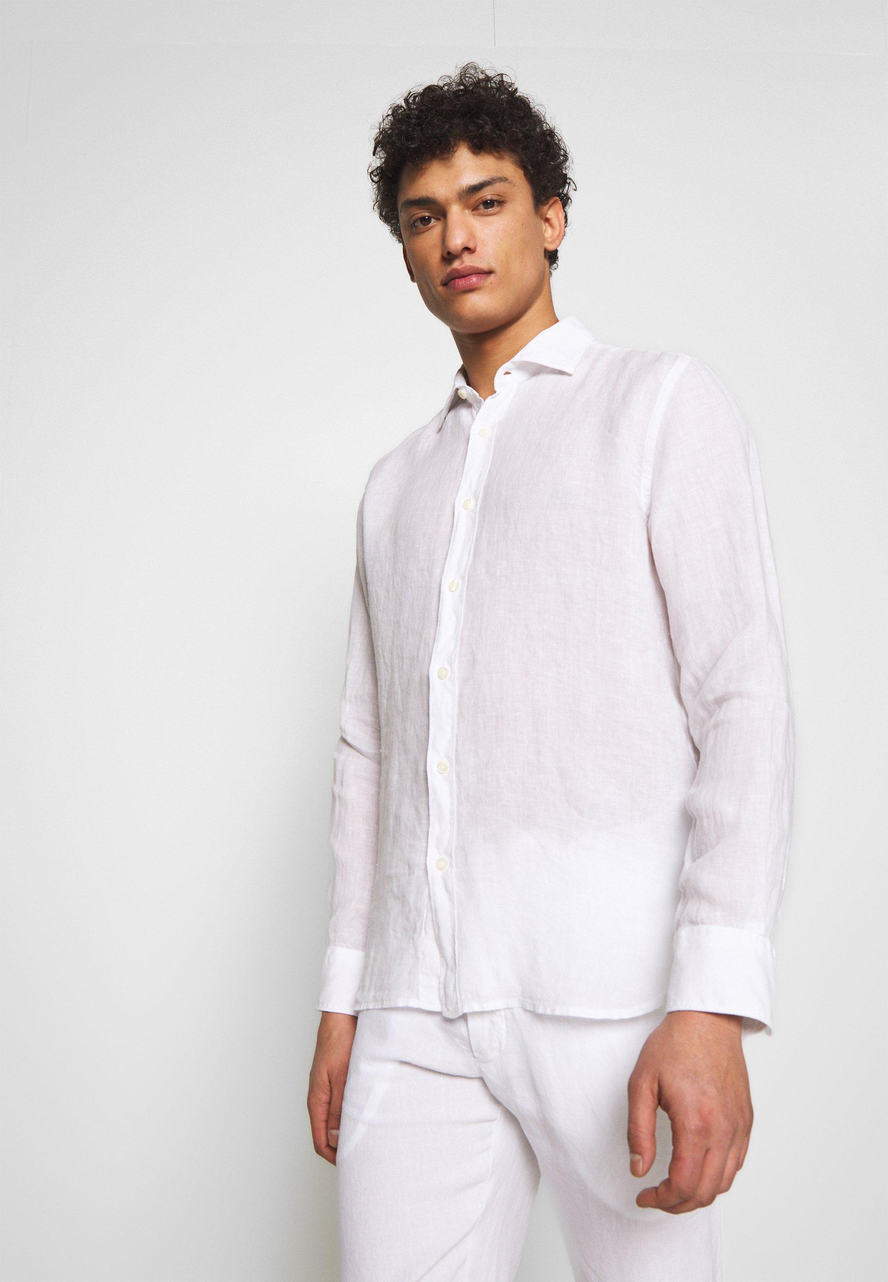 120% Lino Koszula - white
