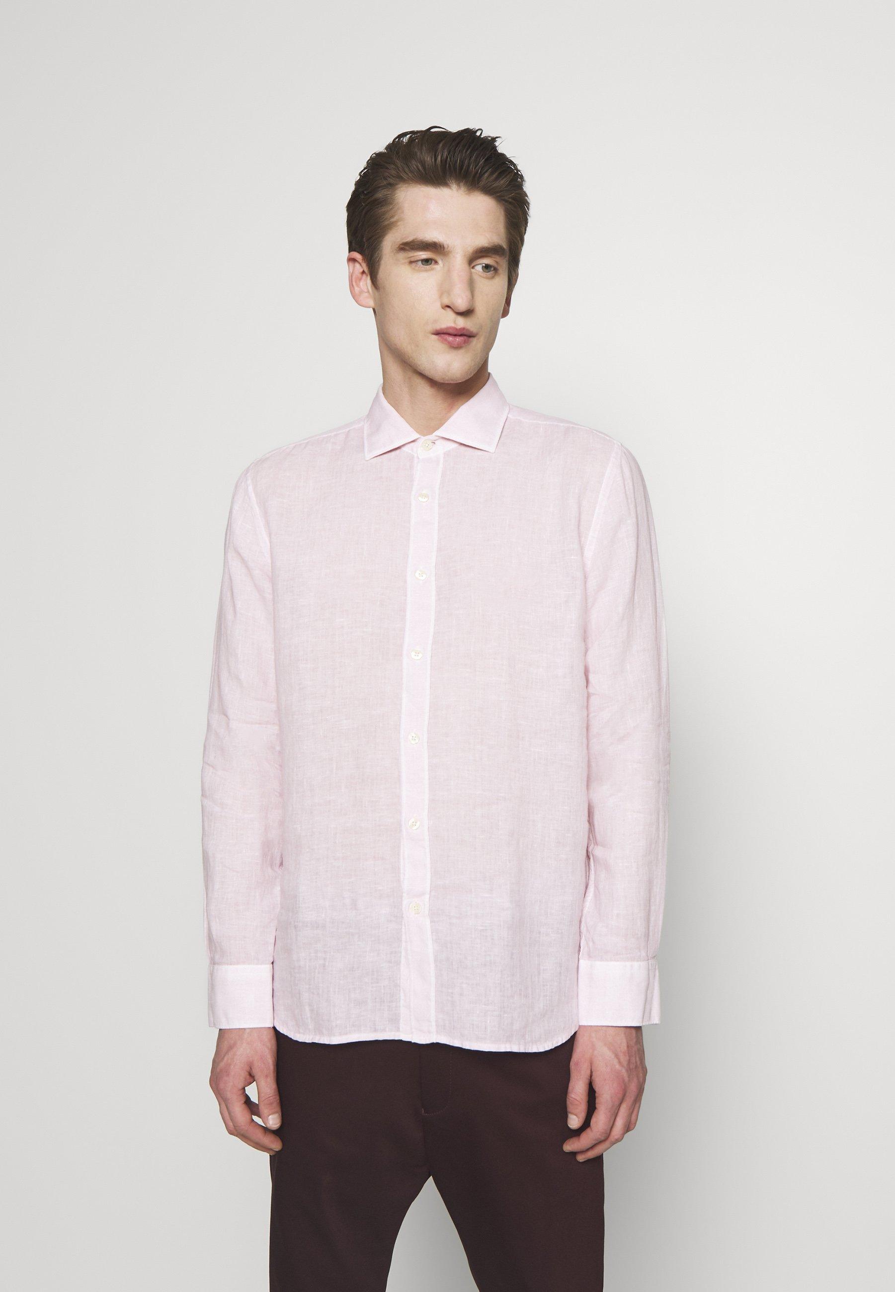 120% Lino Koszula - pink soft fade