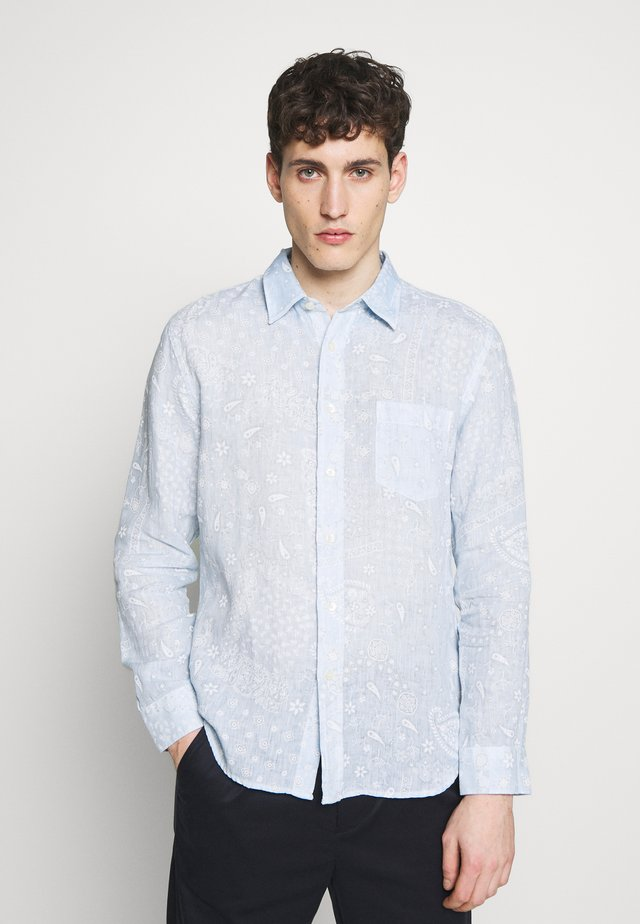 PRINT PAISLEY - Shirt - pacific blue soft fade