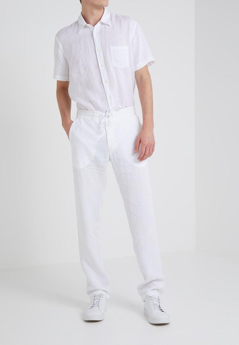 120% Lino - PANTALONE UOMO - Broek - white