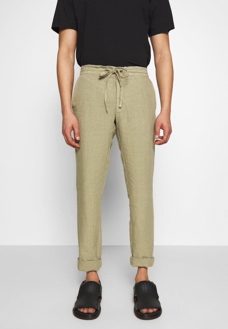 120% Lino - TROUSERS - Trousers - olive