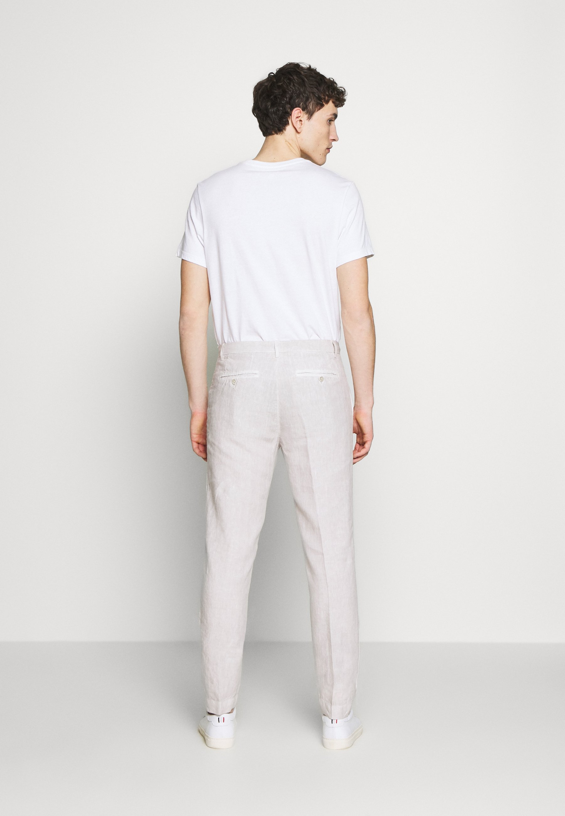 120% Lino TAILORED TROUSERS Broek turtle soft fade
