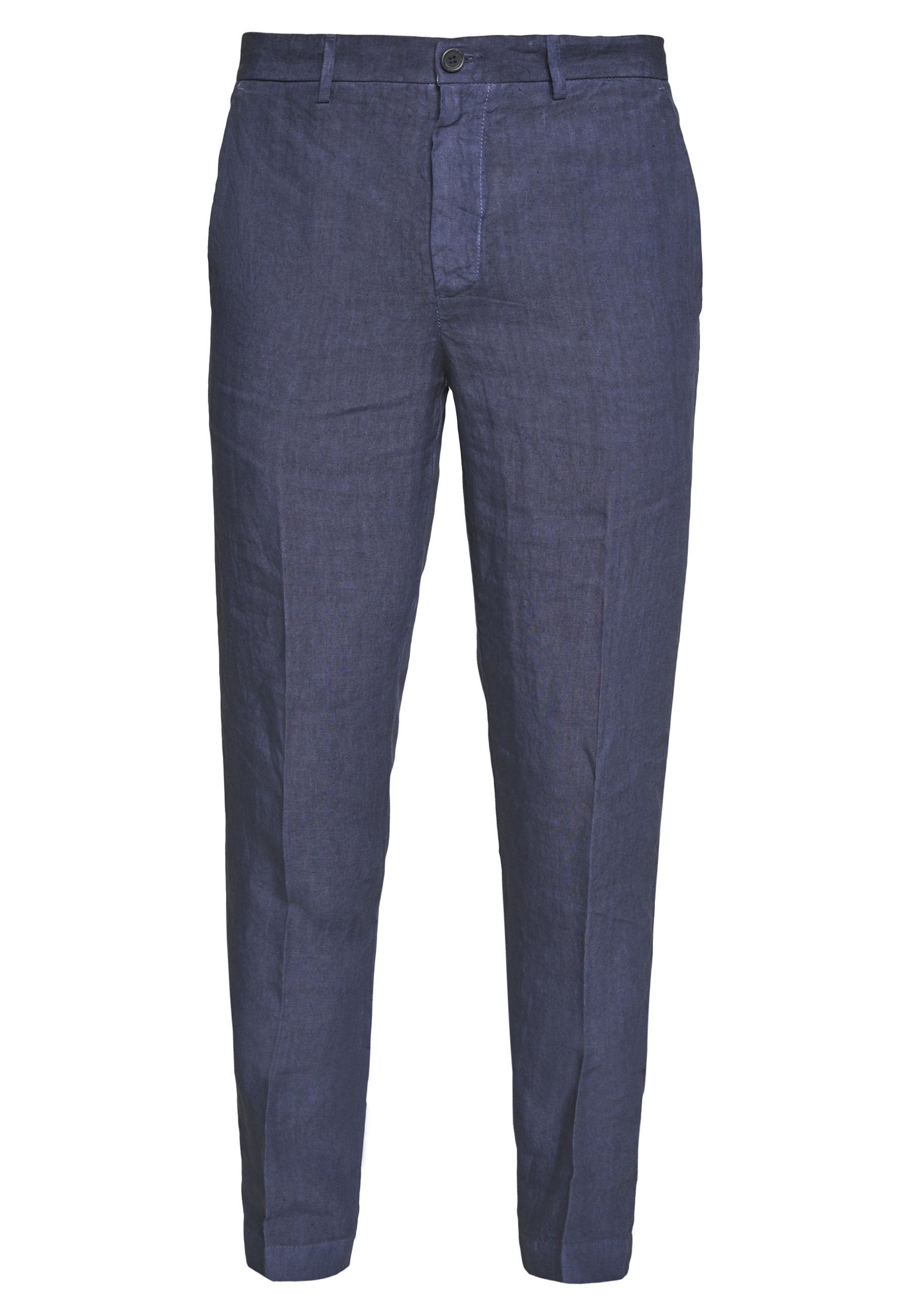 120% Lino Tailored Trousers - Bukser Dark Blue Fade