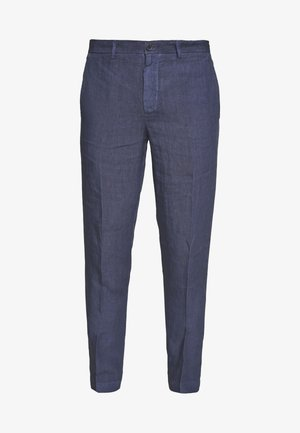 TAILORED TROUSERS - Kangashousut - dark blue fade