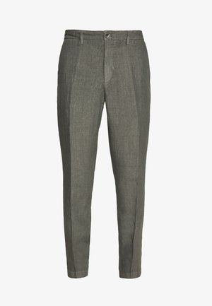 TAILORED TROUSERS - Kangashousut - anthracite