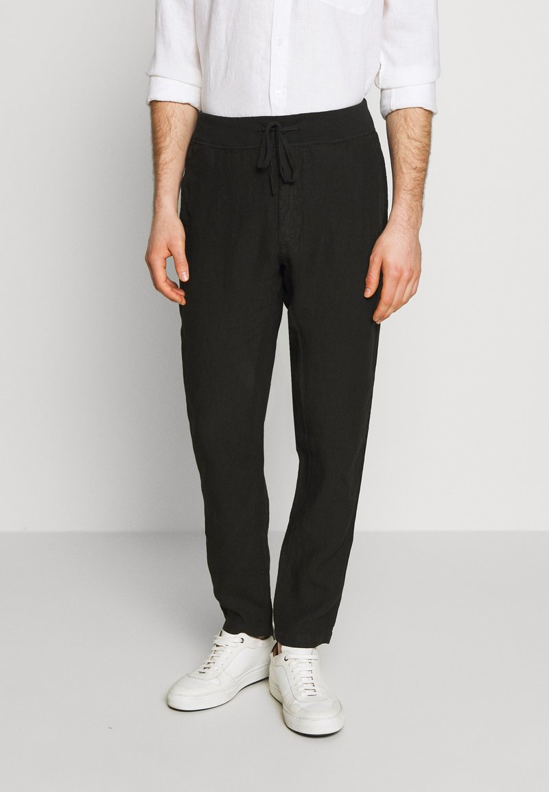 120% Lino - TROUSERS - Trousers - black