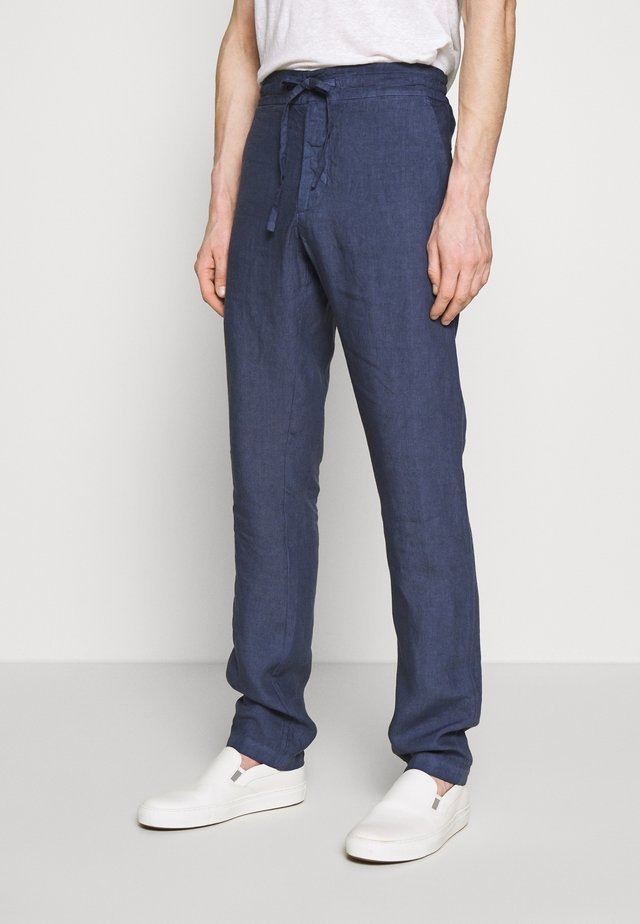 TROUSERS - Tygbyxor - dark blue fade
