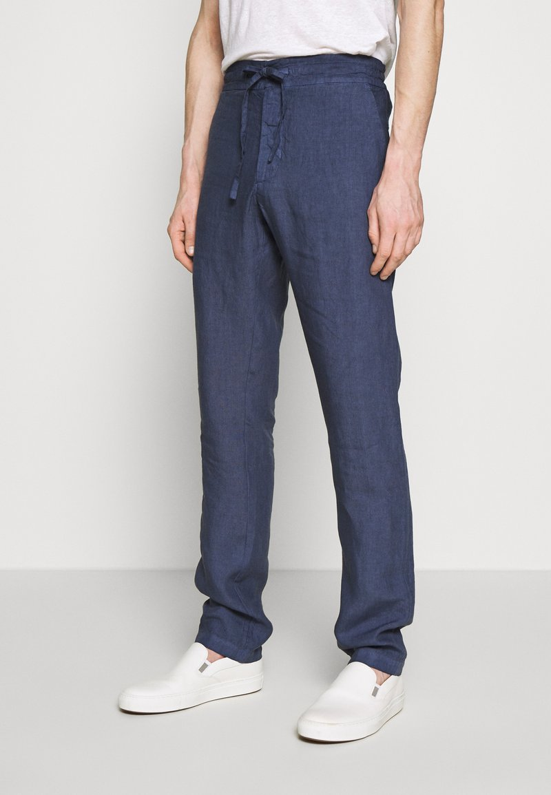 120% Lino - TROUSERS - Trousers - dark blue fade