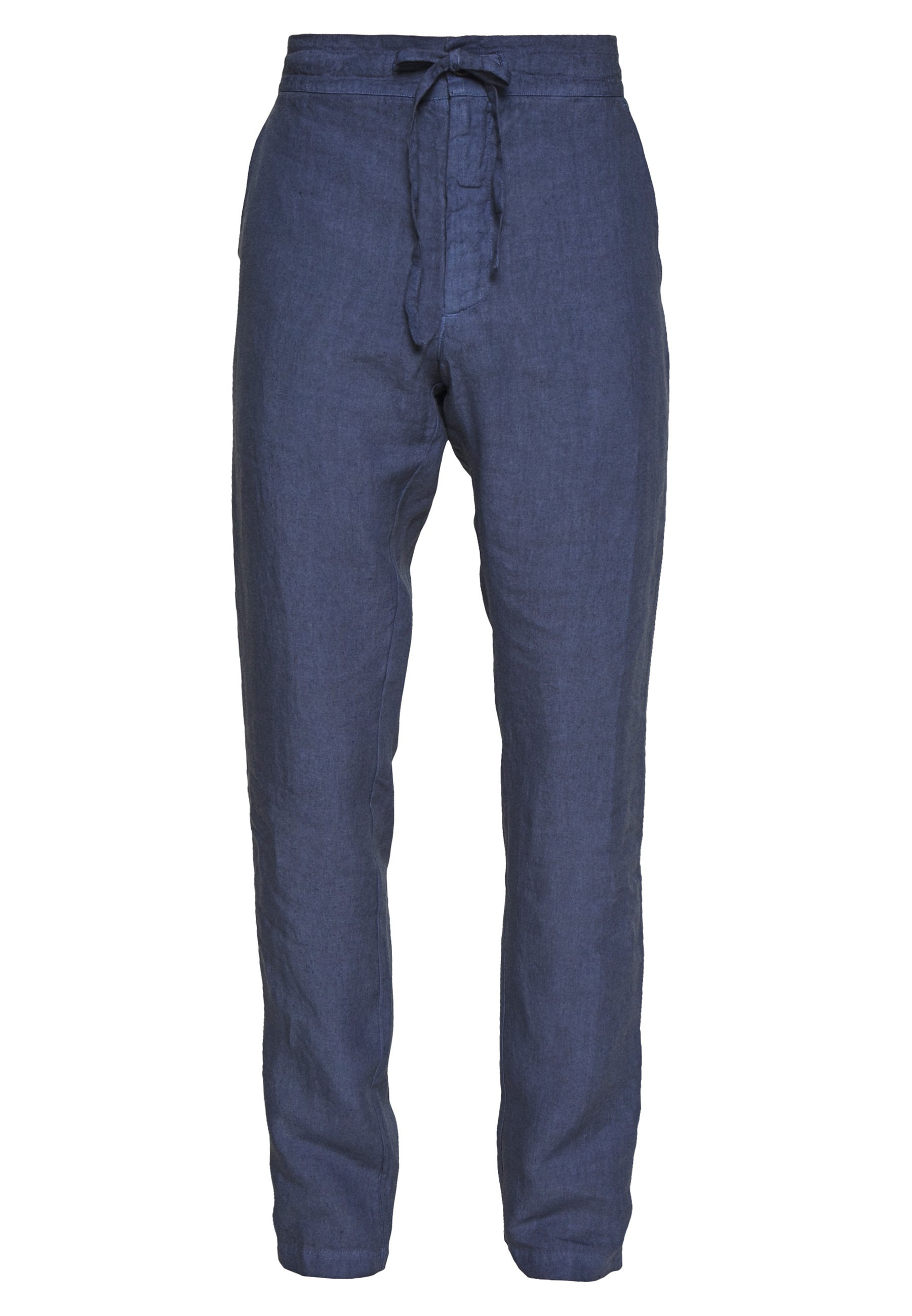 120% Lino Trousers - Tygbyxor Dark Blue Fade