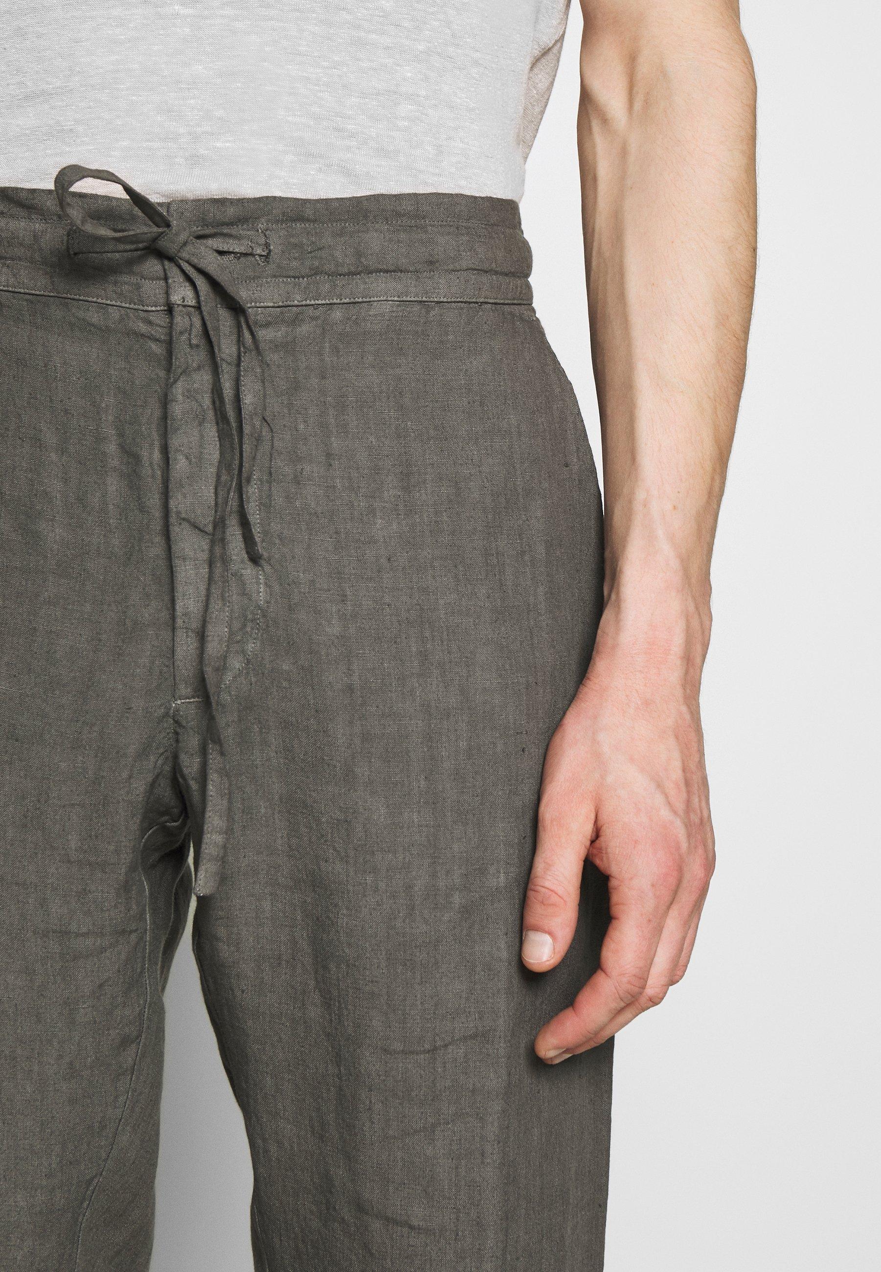 120% Lino Trousers - Tygbyxor Elephant Sof Fade