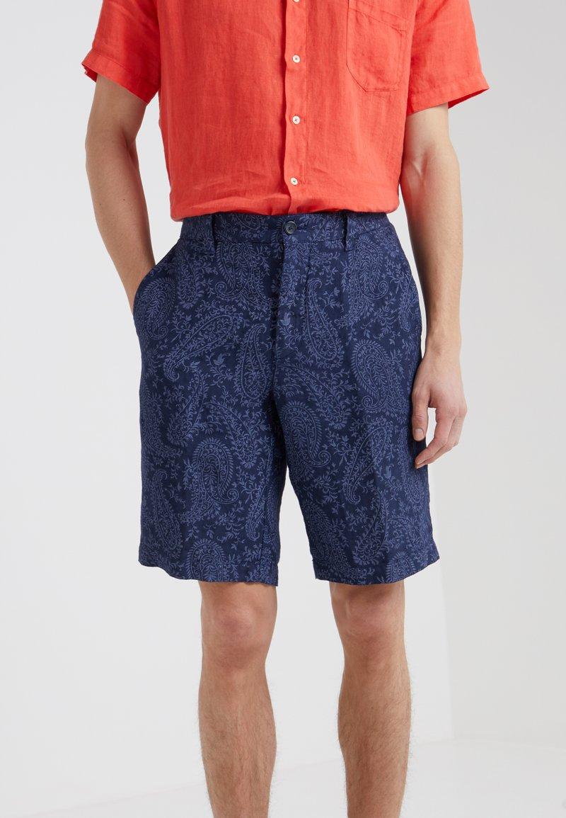 120% Lino - BERMUDA - Shorts - dark blue