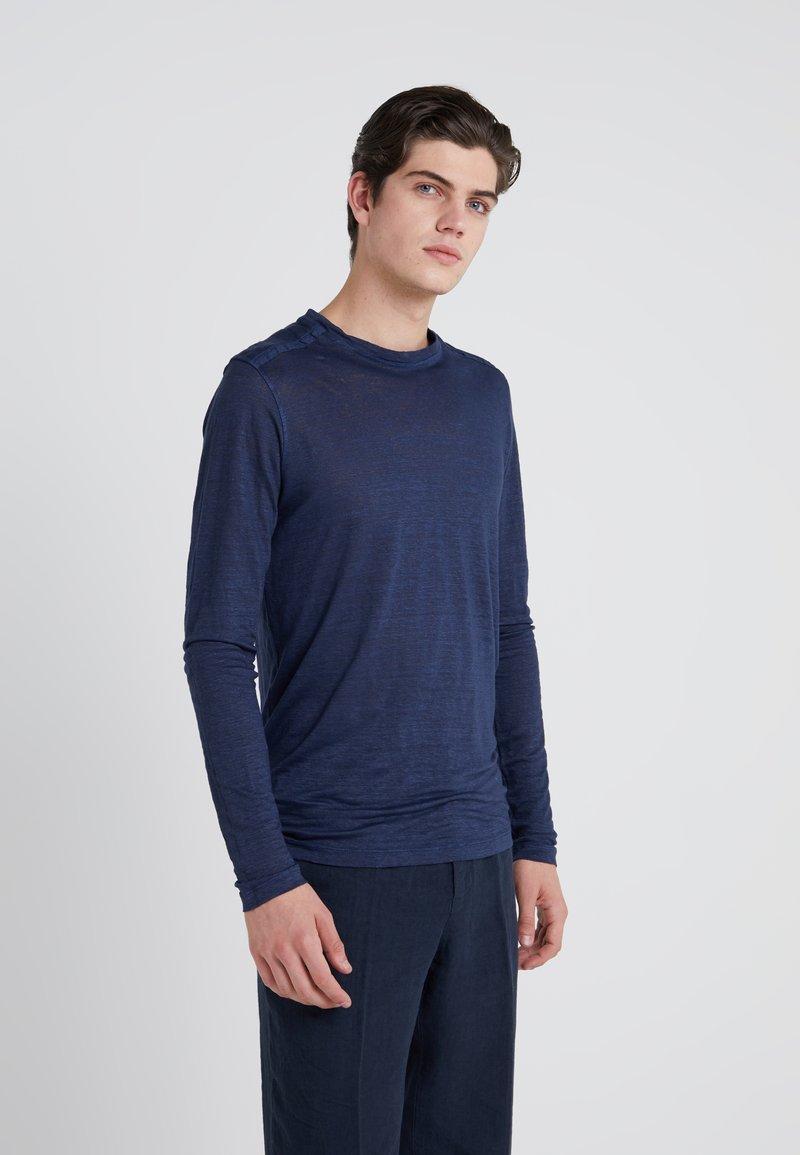 120% Lino - Longsleeve - dark blue