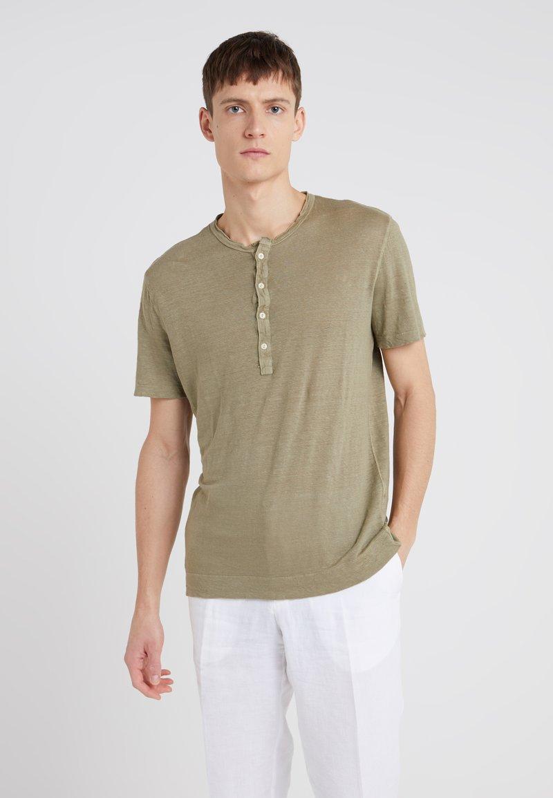 120% Lino - T-Shirt basic - military green