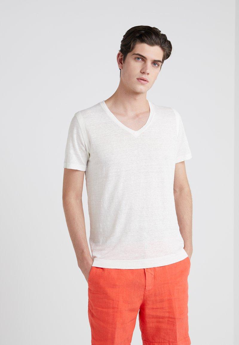 120% Lino - T-Shirt basic - sugar