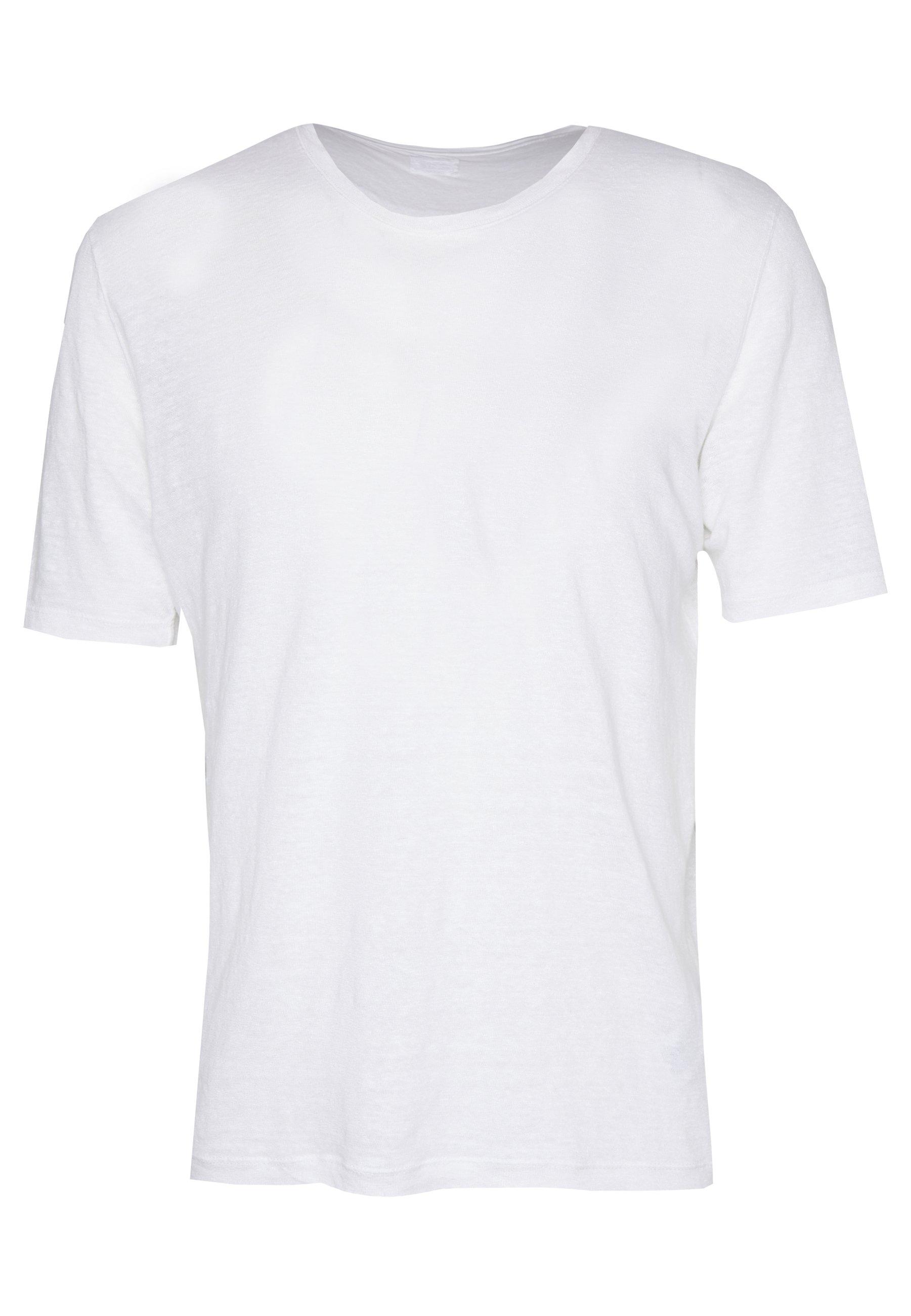 120% Lino T-shirt - Bas White Solid