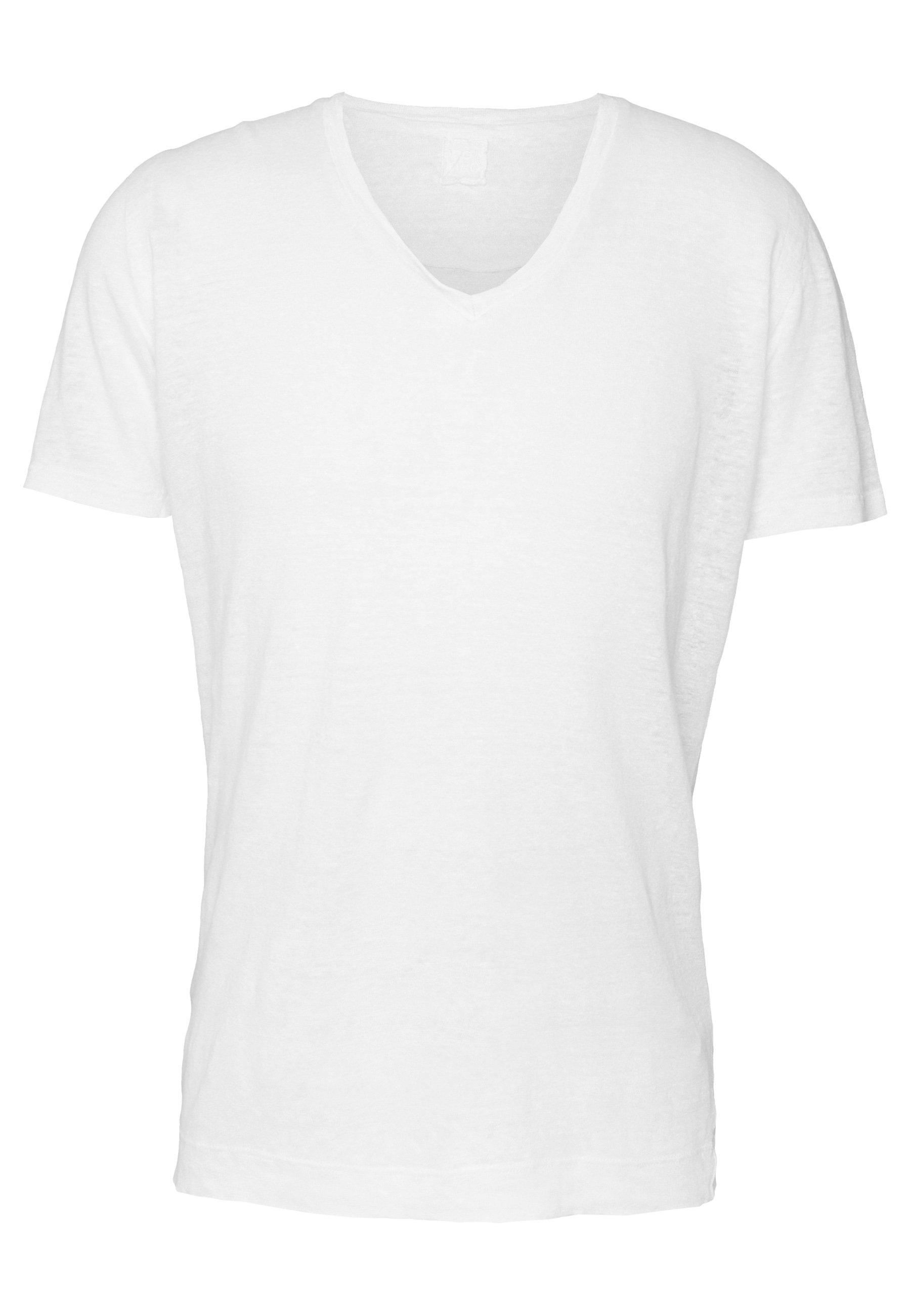 120% Lino T shirt basic white solid Zalando.nl