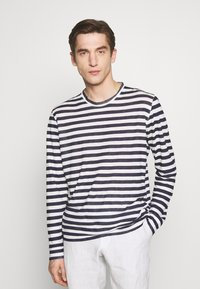 120% Lino - STRIPE - Long sleeved top - white - 0