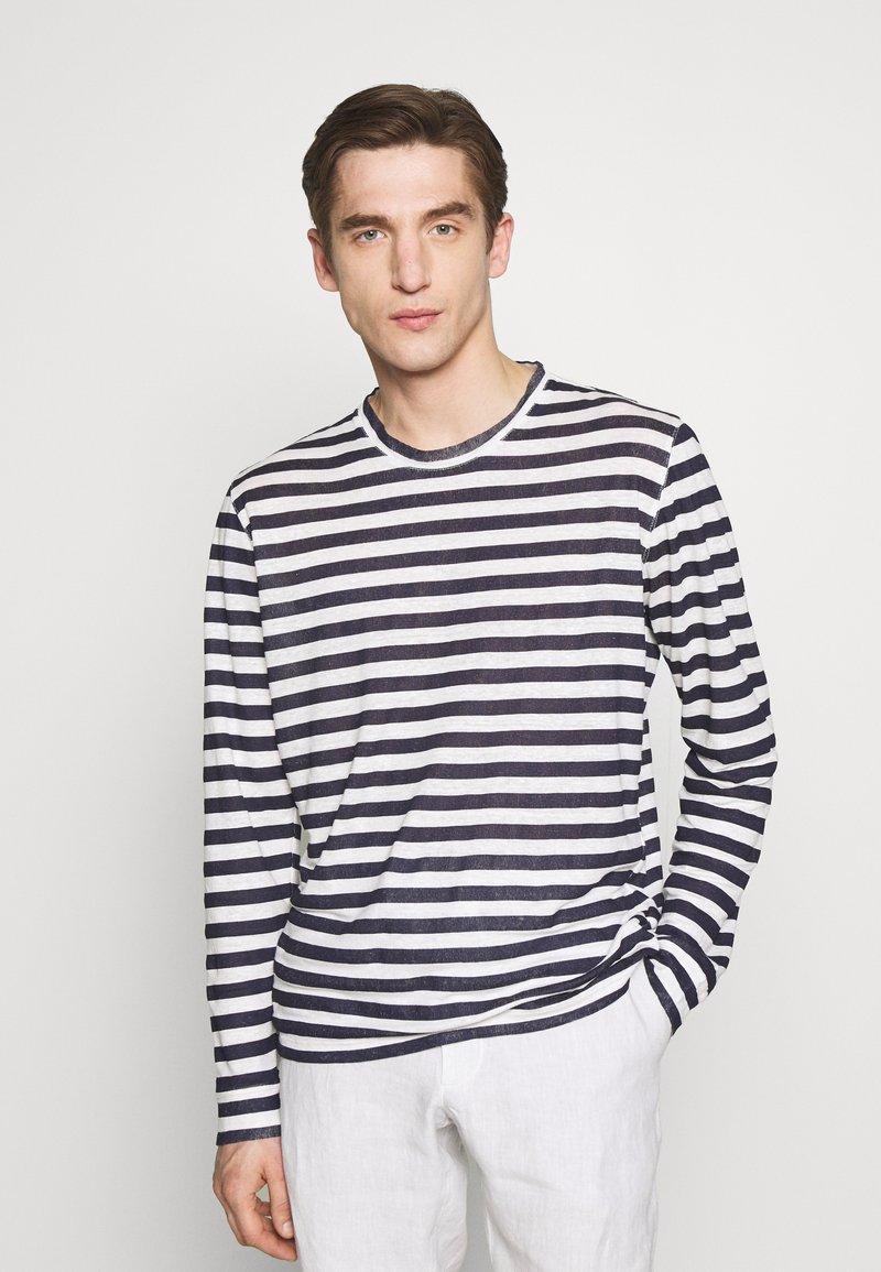 120% Lino - STRIPE - Long sleeved top - white