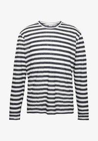 120% Lino - STRIPE - Long sleeved top - white - 4