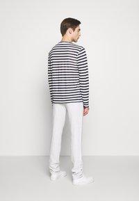 120% Lino - STRIPE - Long sleeved top - white - 2