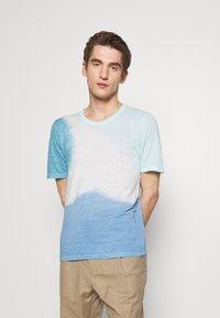 120% Lino - TIE DYE - T-shirts print - shibori blue - 0