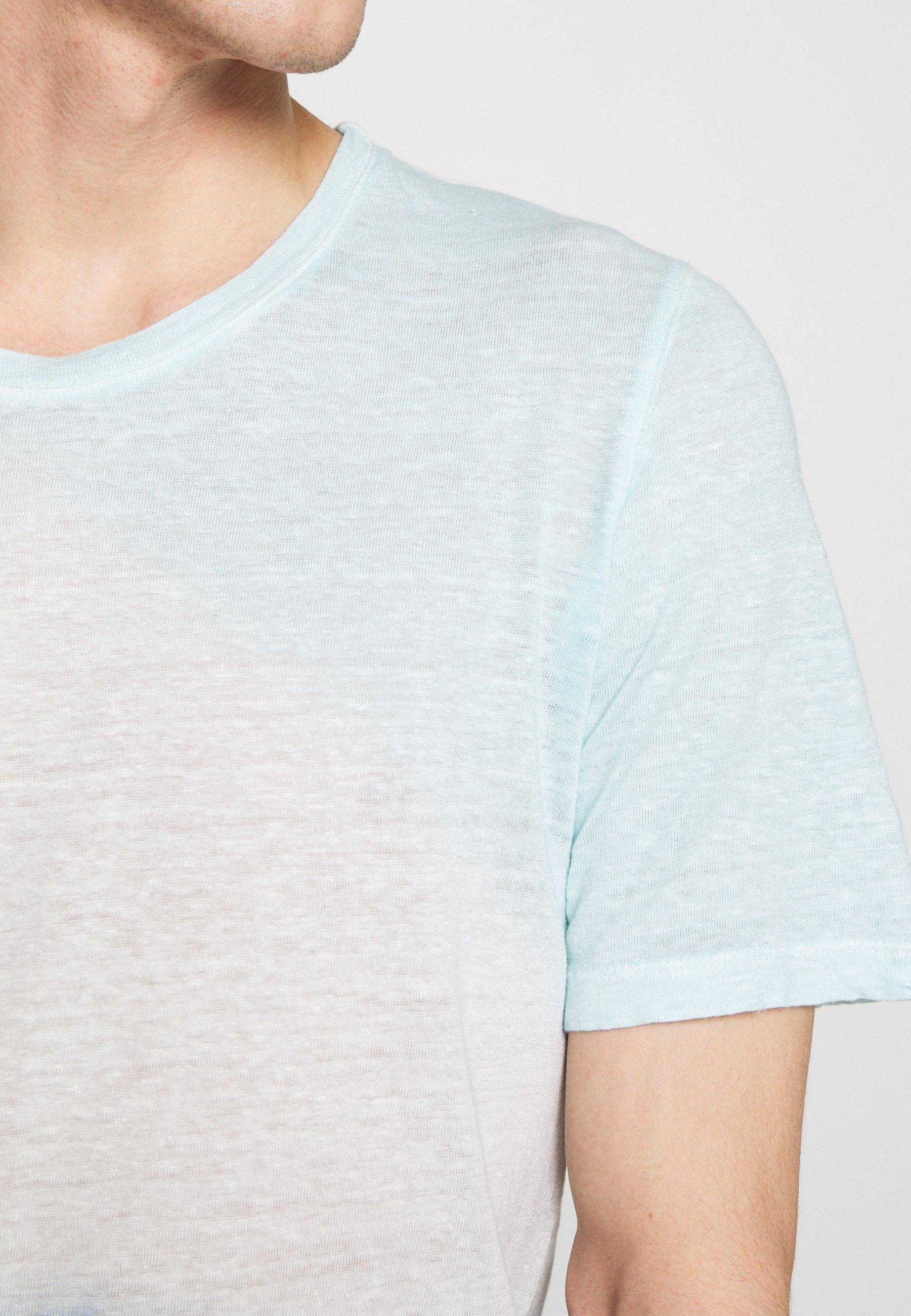 120% Lino Tie Dye - T-shirt Med Print Shibori Blue