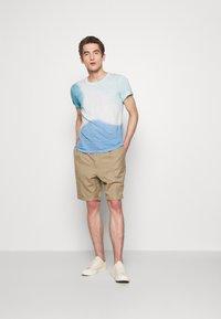 120% Lino - TIE DYE - T-shirts print - shibori blue - 1
