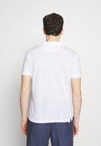 120% Lino - Polo - white solid - 2