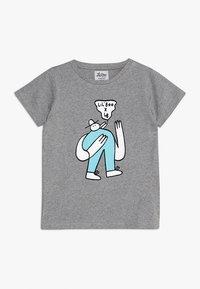 Lil'Boo - LIL' BOO X LB BIRD T-SHIRT - T-shirt z nadrukiem - grey melange - 0