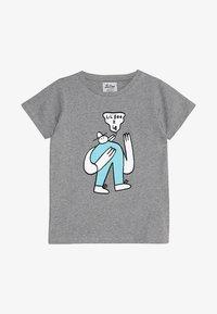 Lil'Boo - LIL' BOO X LB BIRD T-SHIRT - T-shirt z nadrukiem - grey melange - 2