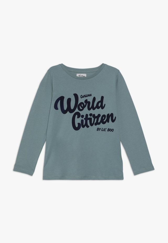 CURIOUS WORLD CITIZEN LONG SLEEVE - Bluzka z długim rękawem - arctic green