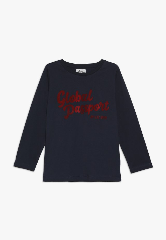 GLOBAL PASSPORT LONG SLEEVE - Top s dlouhým rukávem - navy