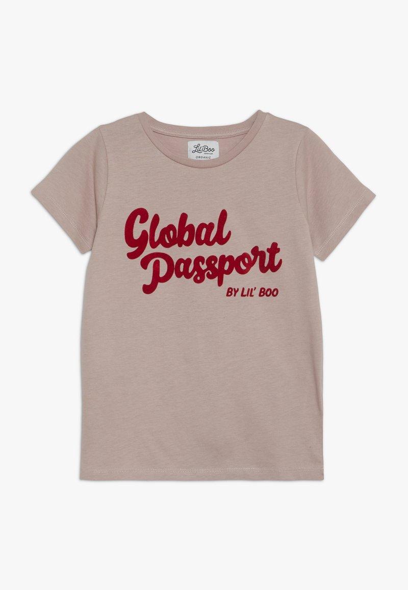 Lil'Boo - GLOBAL PASSPORT SHORT SLEEVE - Camiseta estampada - adobe rose