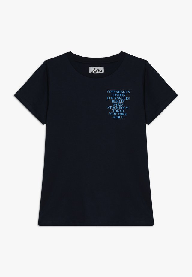 CITIES SHORT SLEEVE - T-shirt z nadrukiem - navy