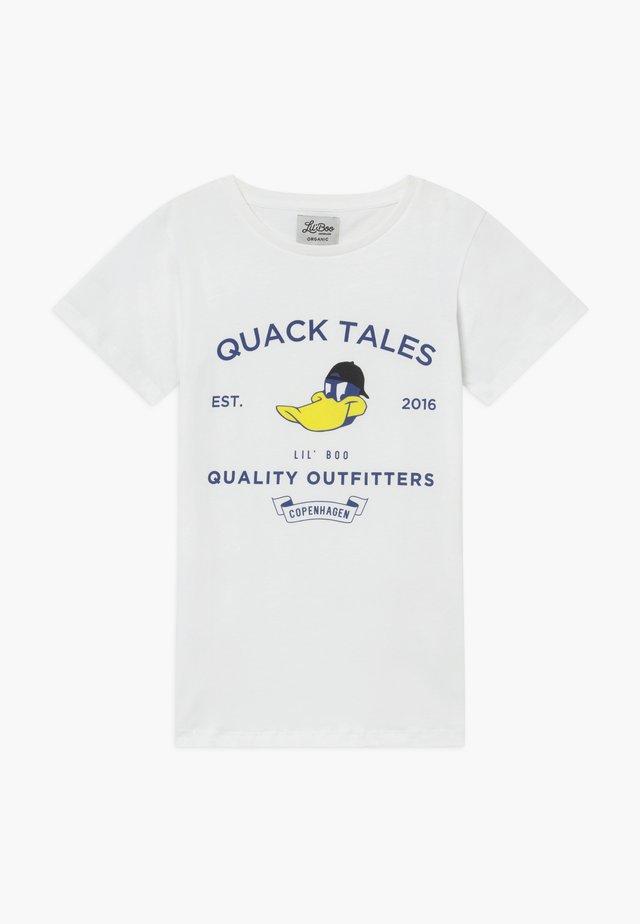 QUACK TALES - T-shirt imprimé - weiß